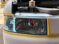 ホンダのヘッドライトの黄ばみを除去してクリアー塗装の施工!